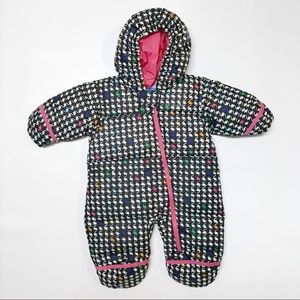 Columbia girls one piece hooded snowsuit